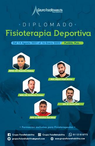 Diplomado en Fisioterapia Deportiva en Puebla Agosto - Enero