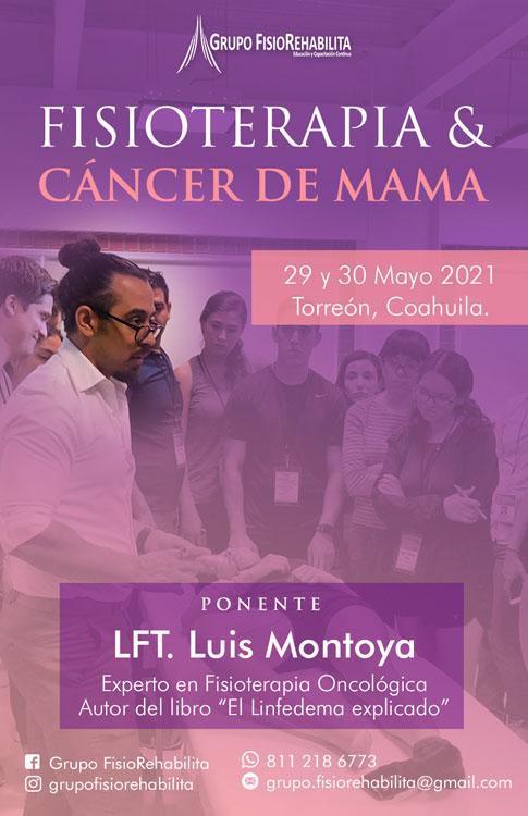 Fisioterapia y cáncer de mama Torreón, Coahuila, Mayo 2021