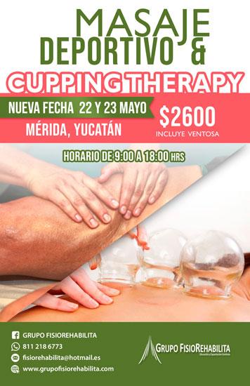 Masaje Deportivo & Cupping Therapy Mérida, Qro. 1 y 2 Mayo 2021